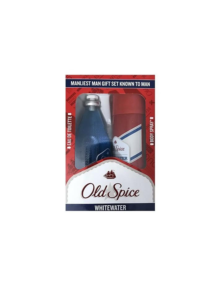 Old Spice Whitewater Gift Set Deodorant Body Spray 150ml & Eau De Toilette 100ml 6090 Old Spice Gift Ιdeas €10.90 €8.79