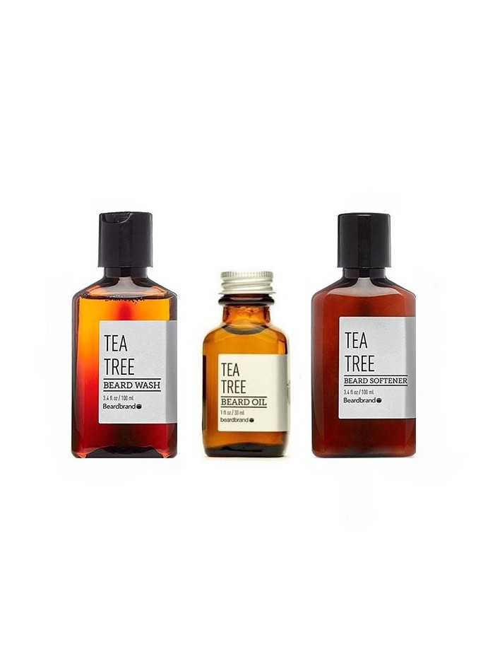 BeardBrand Set Tea Tree Beard Wash and Softener 100ml & Beard Oil Tea Tree 30ml 2994 Beardbrand Γένια €55.70 -5%€44.92