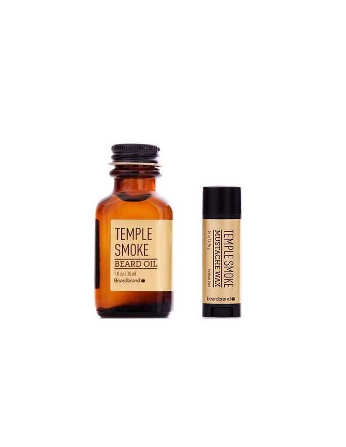 Beardbrand Temple Smoke Beard Oil 30ml & Mustache Wax 4.25gr 2997 Beardbrand Γένια €48.90 -5%€39.44