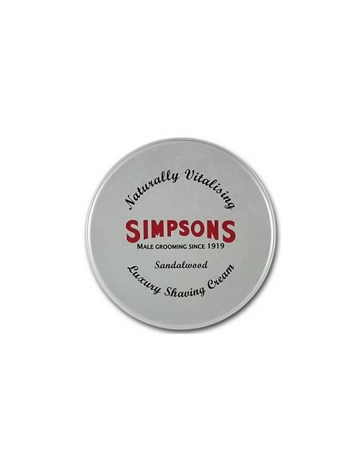 Simpsons Shaving Cream Sandalwood 125ml 7259 Simpsons Creams-Foam-Gels €15.99 €12.90
