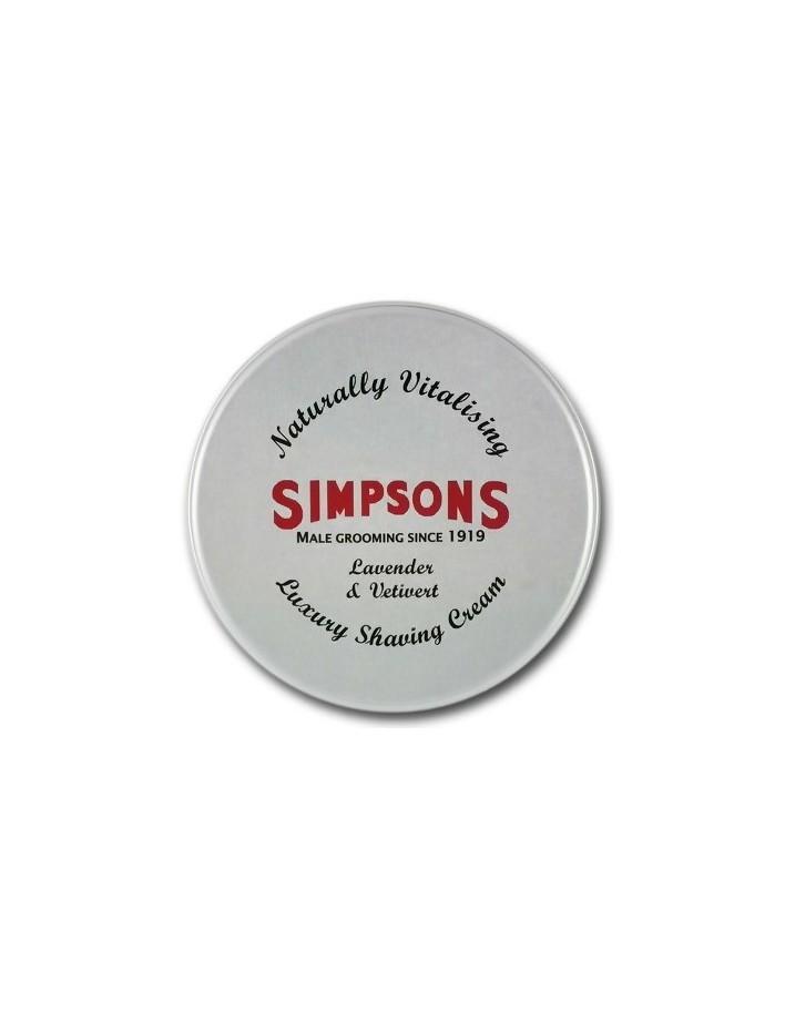 Simpsons Shaving Cream Lavender & Vetiver 125ml 7263 Simpsons Creams-Foam-Gels €15.99 €12.90