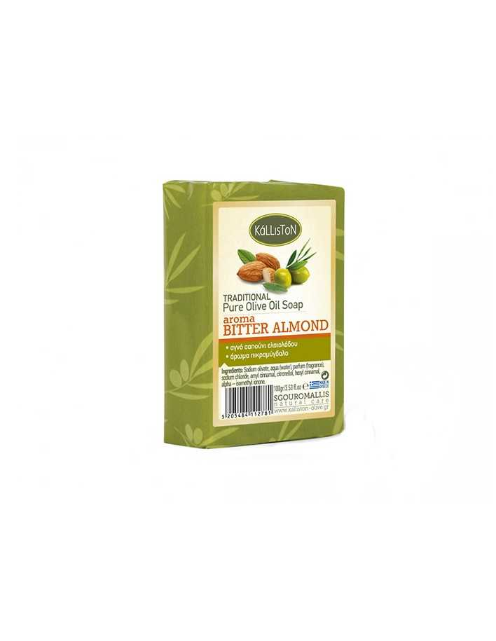 Kalliston Pure Olive Oil Soap Bitter Almond 100gr 4135 Kalliston Natural Care Soaps €0.90 product_reduction_percent€0.73