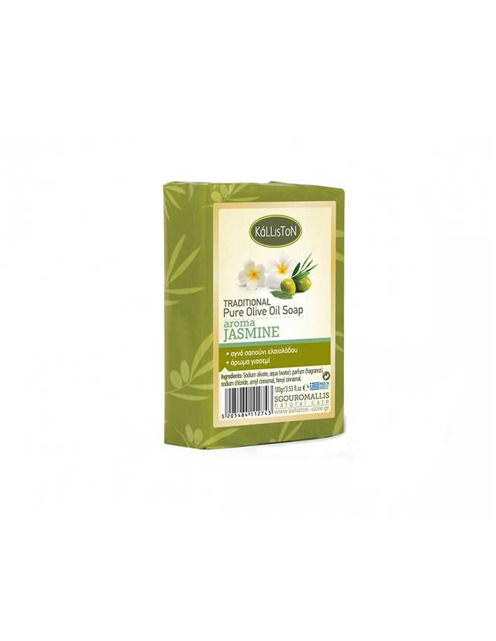 Kalliston Pure Olive Oil Soap Jasmine 100gr 3398 Kalliston Natural Care Soaps €0.90 product_reduction_percent€0.73
