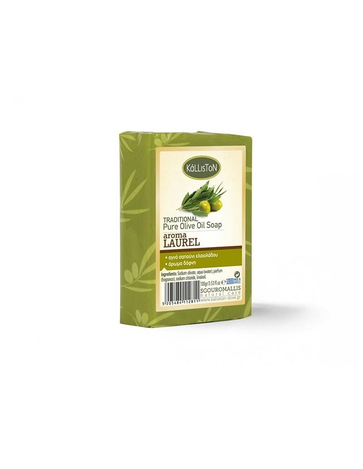 Kalliston Pure Olive Oil Soap Laurel 100gr 5796 Kalliston Natural Care Soaps €0.90 product_reduction_percent€0.73