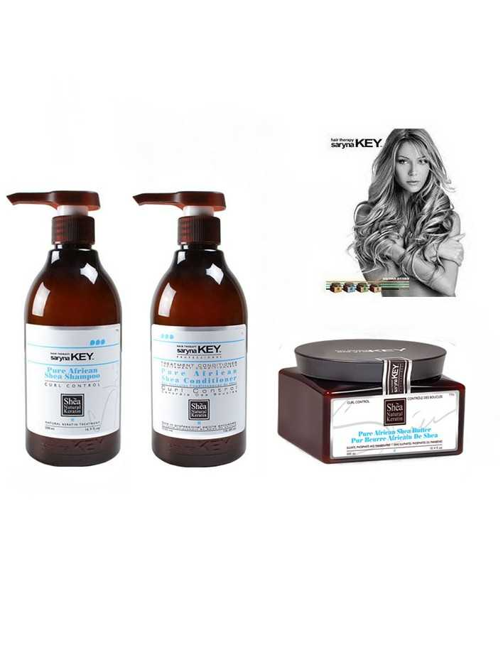 Saryna Key Curl Control Gift Pack 11 Treatment Shampoo 300ml & Conditioner 300ml & Shea Butter 300ml 7977 Saryna Key Special ...