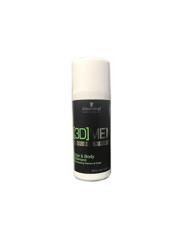 Schwarzkopf 3D Men Hair & Body Shampoo 50ml Gift 0225 Schwarzkopf Samples €0.00 €0.00