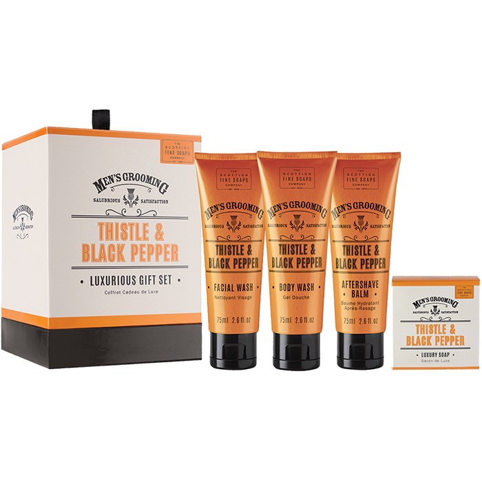The Scottish Men's Grooming Luxurious Gift Set 8040 Scottish Fine Soaps Company Gift Sets €15.90 product_reduction_percent€12.82