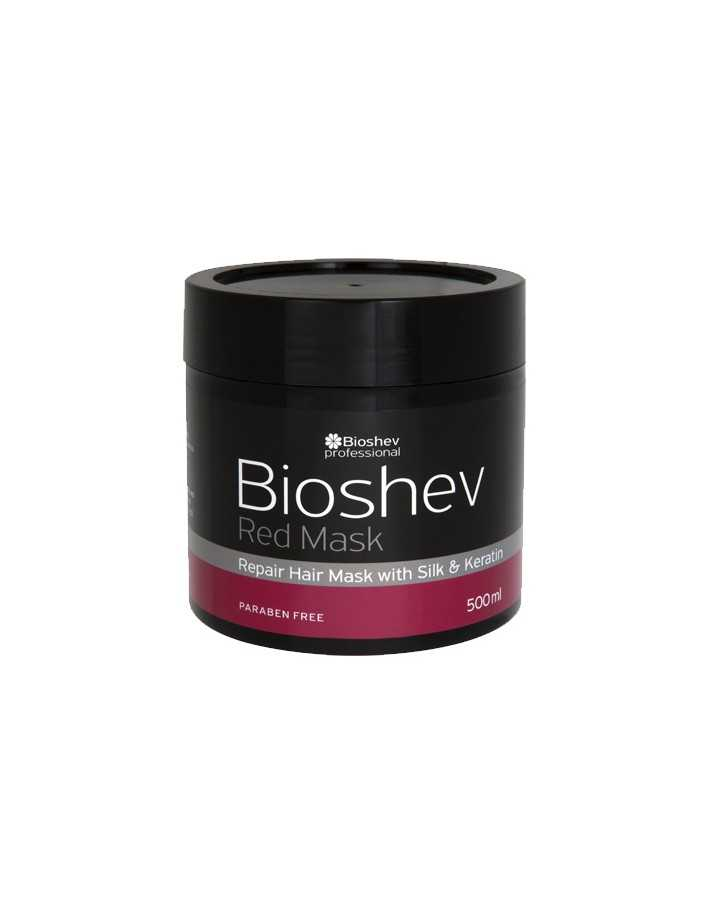 Bioshev Professional Red Mask With Silk & Keratin 500ml 8214 Bioshev Hair Mask €10.64 €8.58