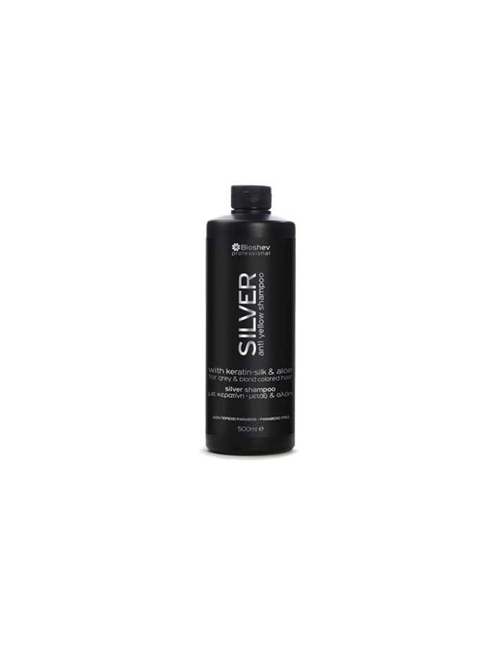 Bioshev Professional Shampoo Silver with Keratin-Silk & Aloe 1000ml 8233 Bioshev Shampoo €12.00 €9.68