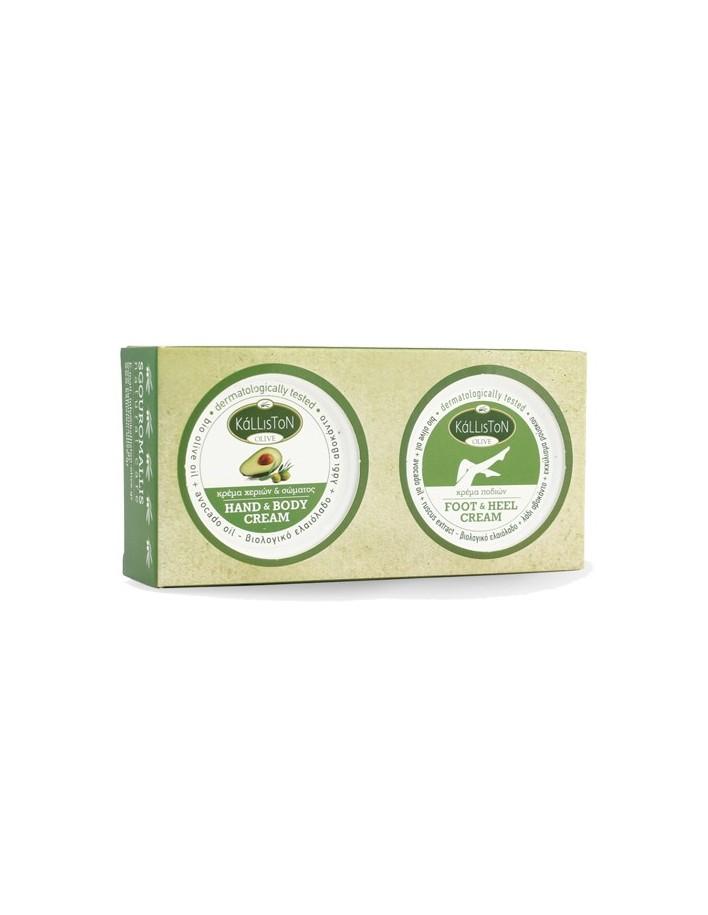 Kalliston Box Hand & Body Cream with avocado oil + Foot & Heel Cream with avocado oil 75ml 8411 Kalliston Hand Creames €6.90 ...