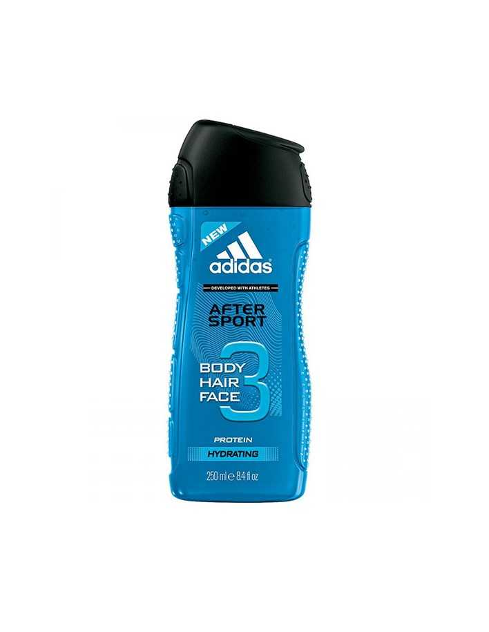 Adidas After Sport 3 in 1 Shower Gel 250ml 8690 Adidas Bath & Shower Gel €2.50 €2.02