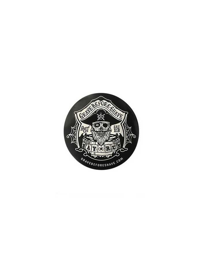 Grave Before Shave Bay Rum Sticker Small 0353 Fisticuffs LLC Stickers €0.90 product_reduction_percent€0.73
