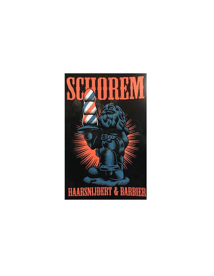 Schorem Haarsnijdert & Barbier Red Sticker 1519  Stickers €1.90 €1.53