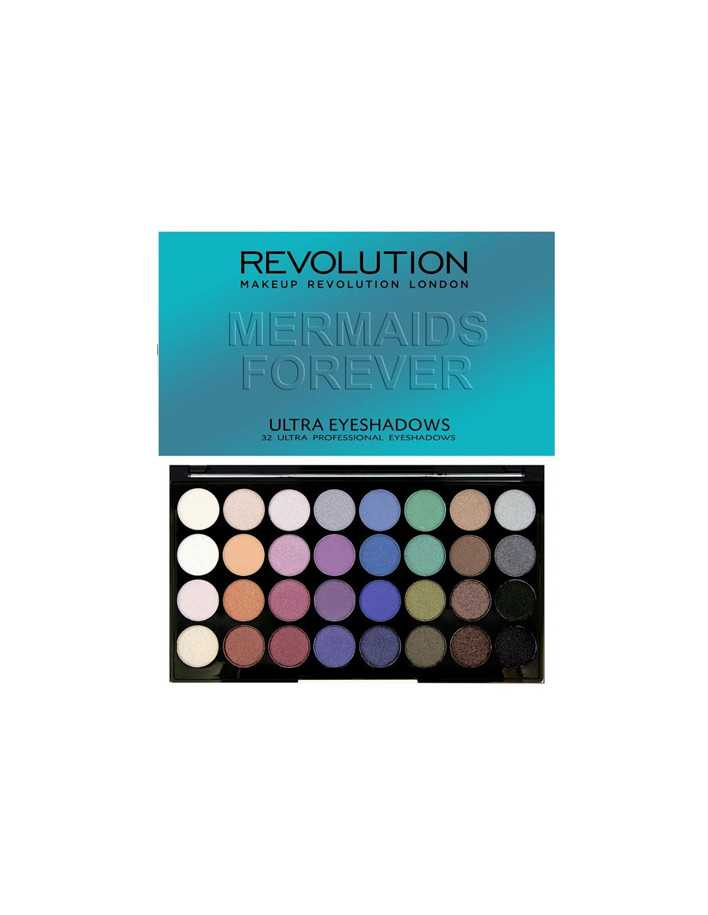 Revolution Beauty Ultra 32 Shade Mermaids Forever Παλέτα Σκιών 20gr 9699  Παλέτες MakeUp €12.20 €9.84