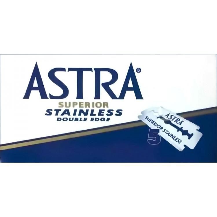 Λεπίδες Ξυρίσματος DE Astra Superior Stainless 5 Ξυραφάκια 0784 Astra Λεπίδες - Ξυραφάκια €0.95 €0.77