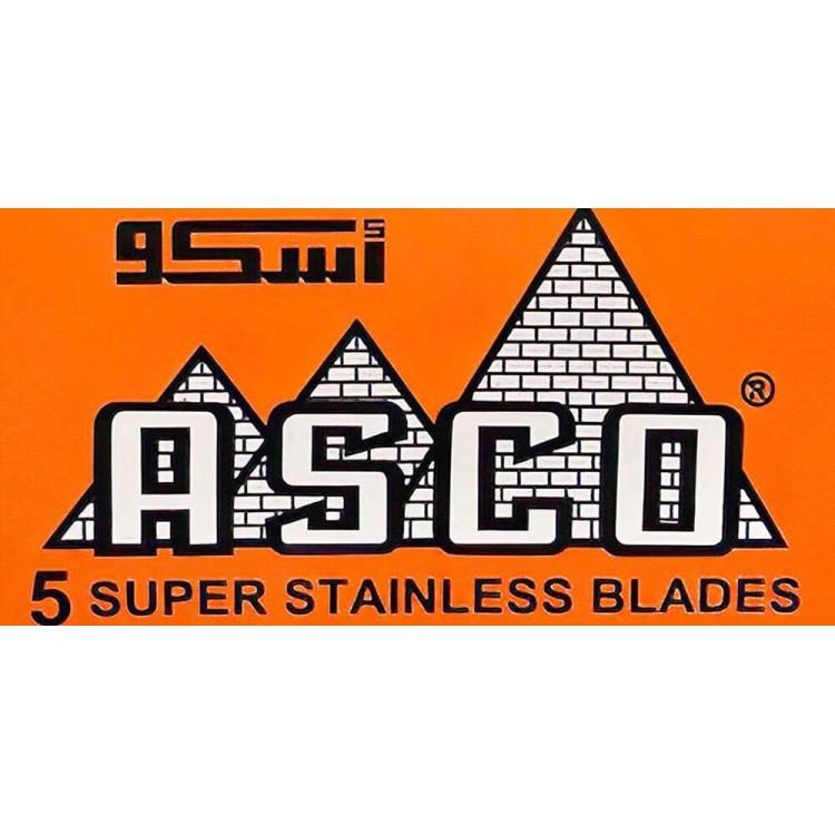 Ξυραφάκια Asco Super Stainless Pack 5 Λεπίδες 0885 Asco Λεπίδες - Ξυραφάκια €0.95 €0.77