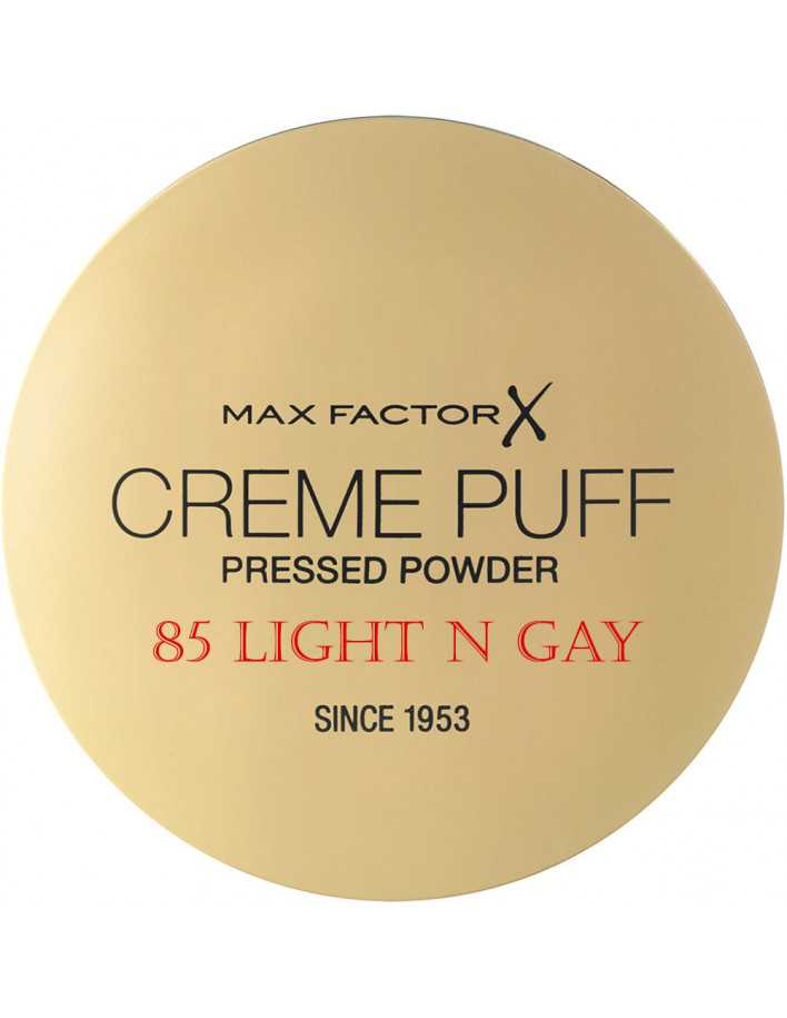 Compact Powder Creme Puff Max Factor 85 Light N Gay 11209 Max Factor Powder €5.90 -10%€4.76