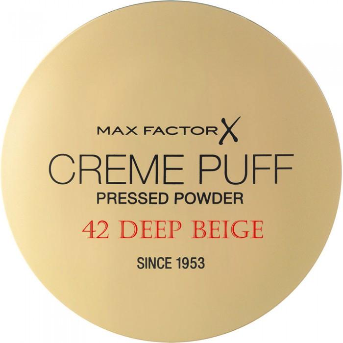 Compact Powder Creme Puff Max Factor 42 Deep Beige 11207 Max Factor Powder €5.90 -10%€4.76