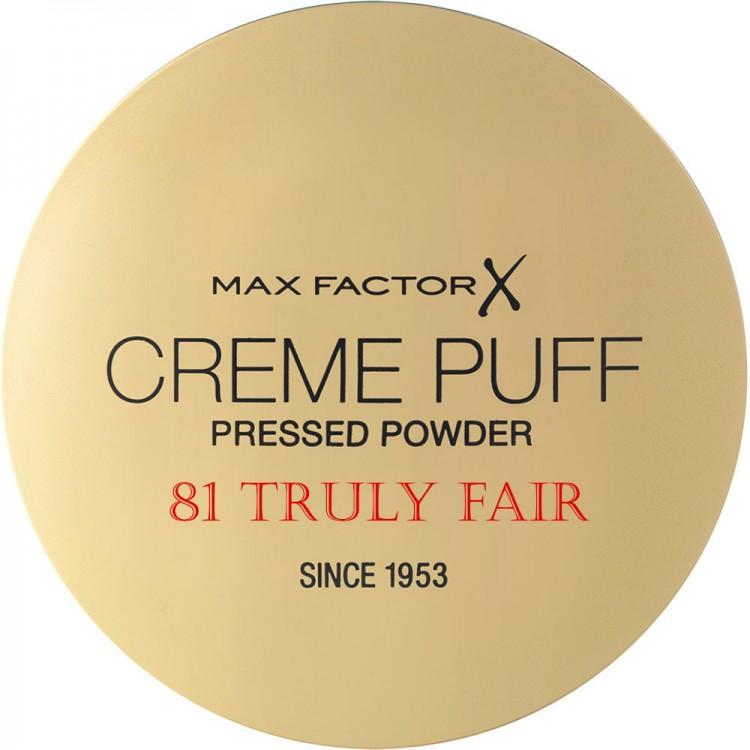 Compact Πούδρα Προσώπου Creme Puff Max Factor 81 Truly Fair 11204 Max Factor Powder €5.90 €4.76