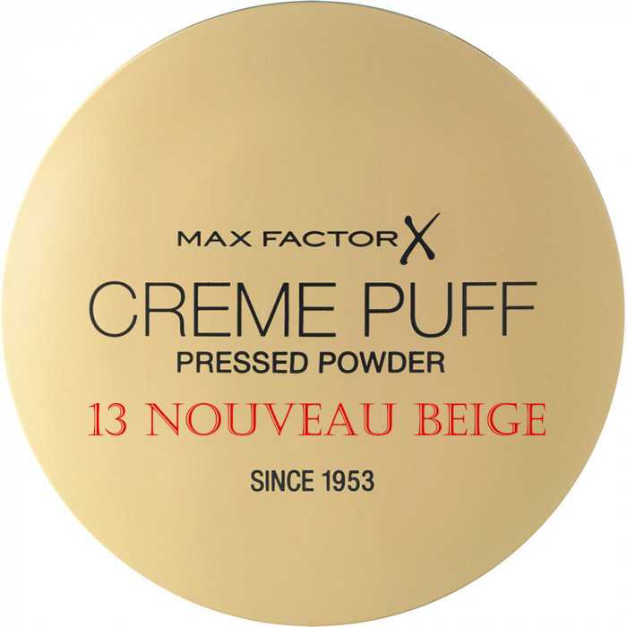 Compact Πούδρα Προσώπου Creme Puff Max Factor 13 Nouveau Beige 11203 Max Factor Powder €5.90 -10%€4.76