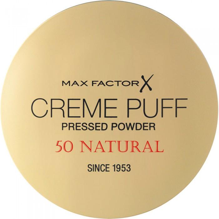 Compact Πούδρα Προσώπου Creme Puff Max Factor 50 Natural 11202 Max Factor Powder €5.90 -10%€4.76