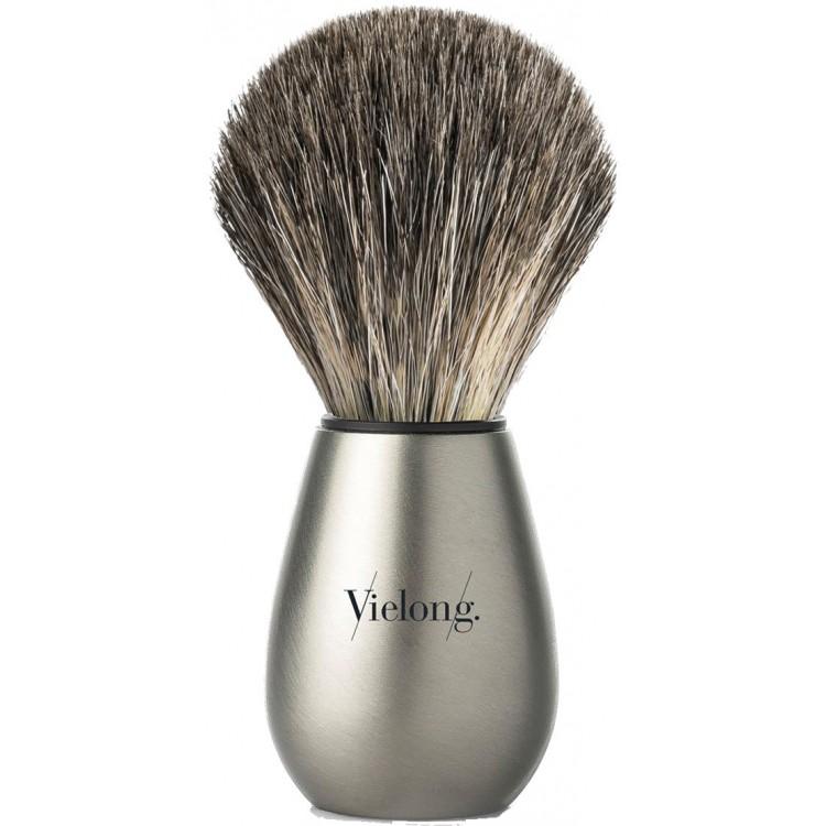 Πινέλο Ξυρίσματος Ασβού Best Badger Με Γκρι Τρίχες Vielong B0010321 Knot 21mm & Δώρο Βάση για Το Πινέλο 11302 Vie-Long Best €...