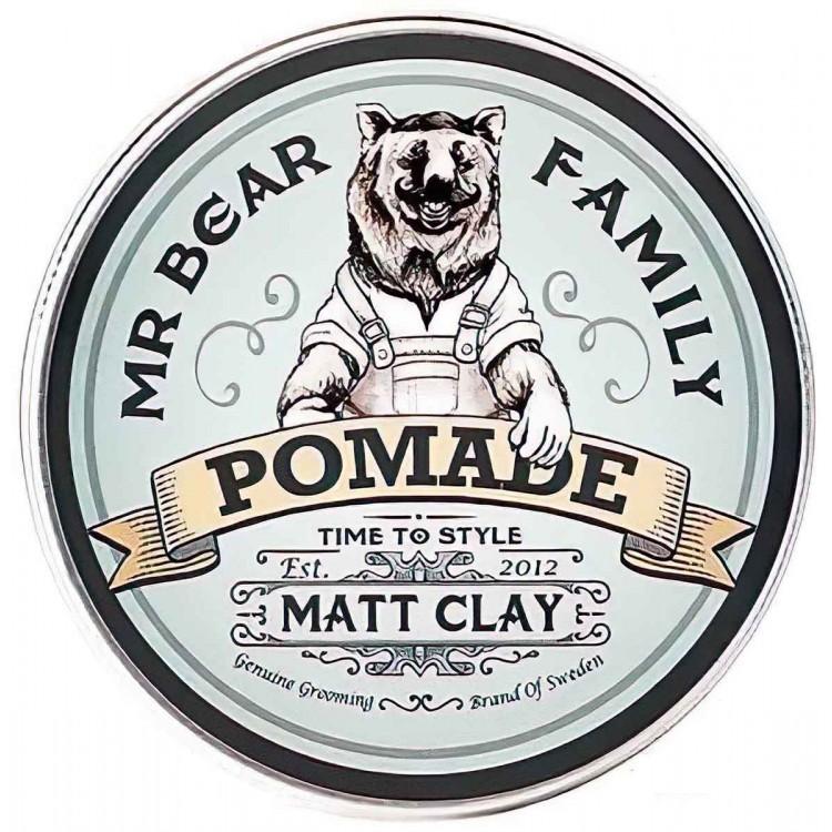 Mr Bear Family Pomade Matt Clay 100ml 9474 Mr Bear Family Medium Clay €18.90 -5%€15.24