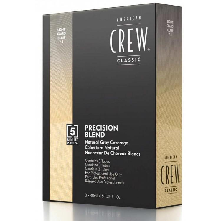 Ανδρική Βαφή Μαλλιών Natural Gray Coverage Ανοιχτό Ξανθό American Crew Precision Blend 7-8 3x40ml 11847 American Crew Βαφές Μ...