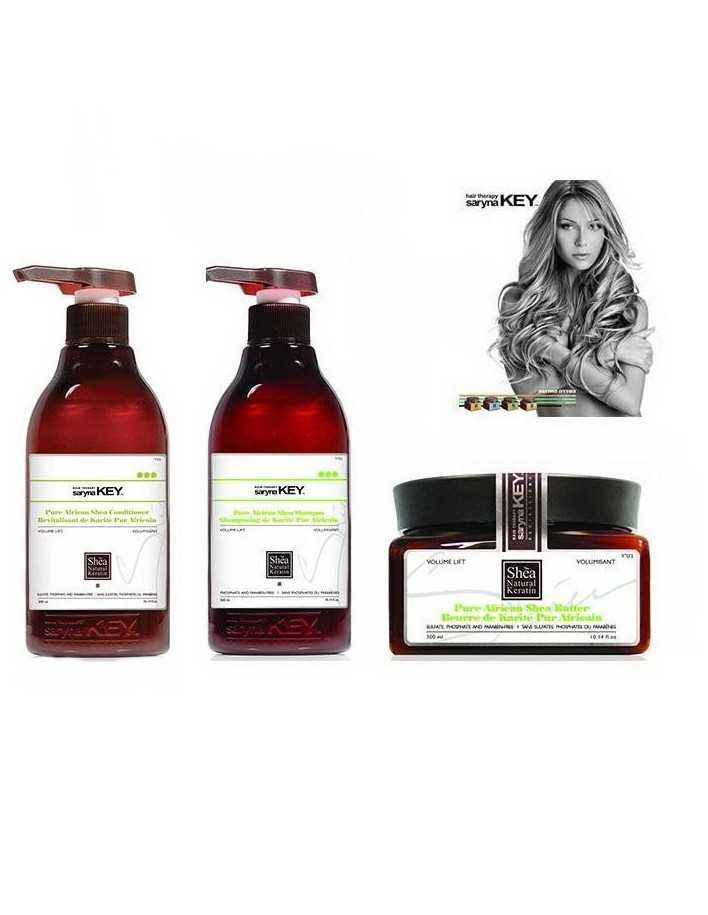 Saryna Key Volume Lift Gift Pack 2 Treatment Shampoo 300ml & Conditioner 300ml & Shea Butter 300ml 2025 Saryna Key Προσφορές ...