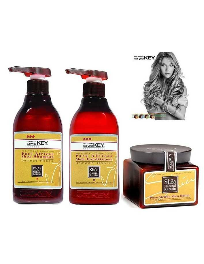 Saryna Key Damage Repair Gift Pack 3 Treatment Shampoo 300ml & Conditioner 300ml & Shea Butter 300ml 2026 Saryna Key Προσφορέ...