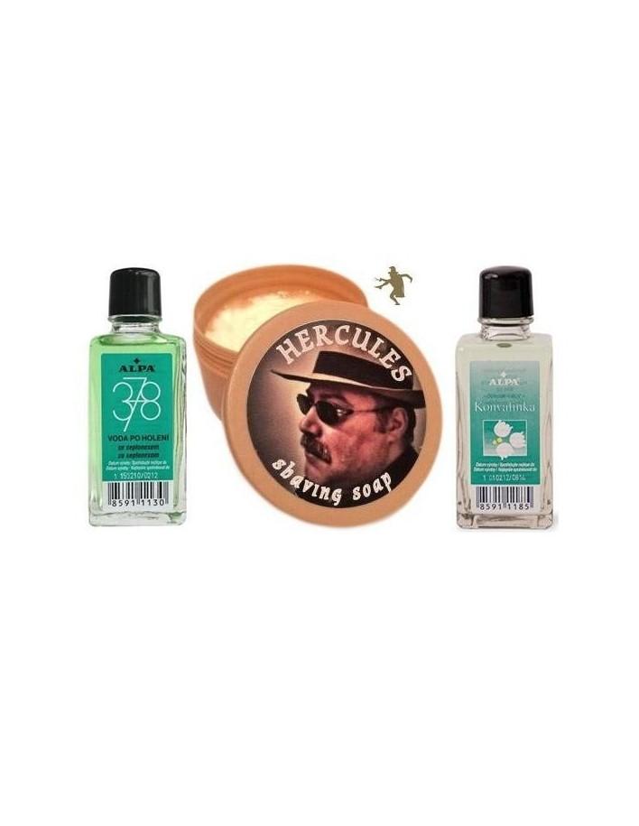 Hercules Shaving Soap 150ml Alpa 378 50ml & Alpa Konvalinka Eau de Cologne 50ml 2119 Tcheon Fung Sing Σαπούνια Ξυρίσματος €19...