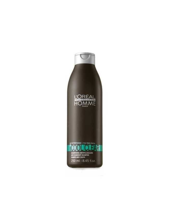 Loreal Professionnel Homme Cool Clear Anti-Dandruff Shampoo 250ml