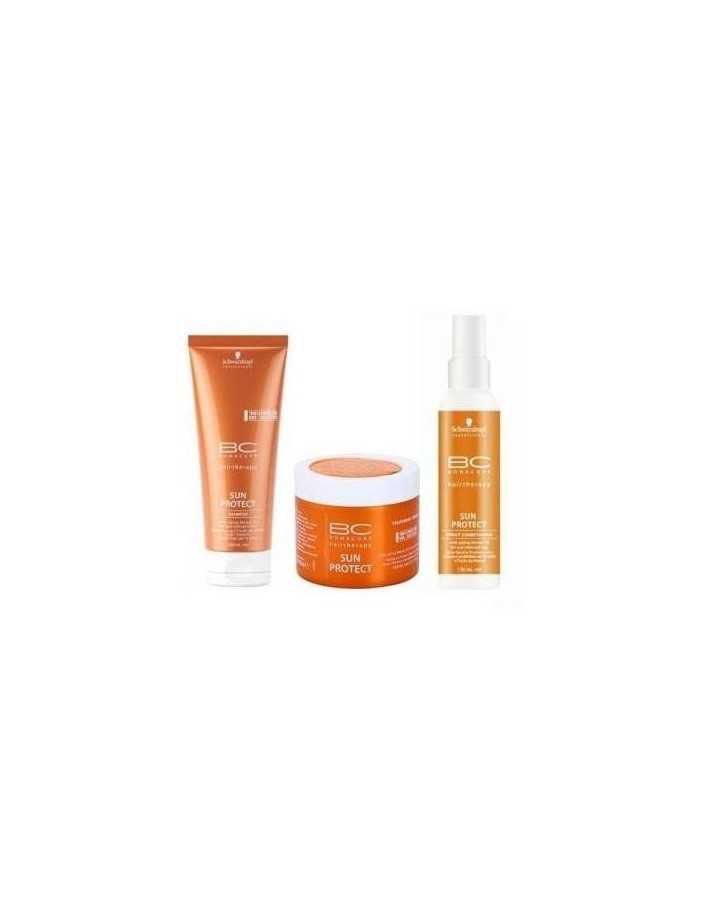 Schwarzkopf Set Sun Protect Shampoo 200ml & Spray Conditioner 150ml & Treatment Cream 150ml 3170 Schwarzkopf Summer Beauty Pa...