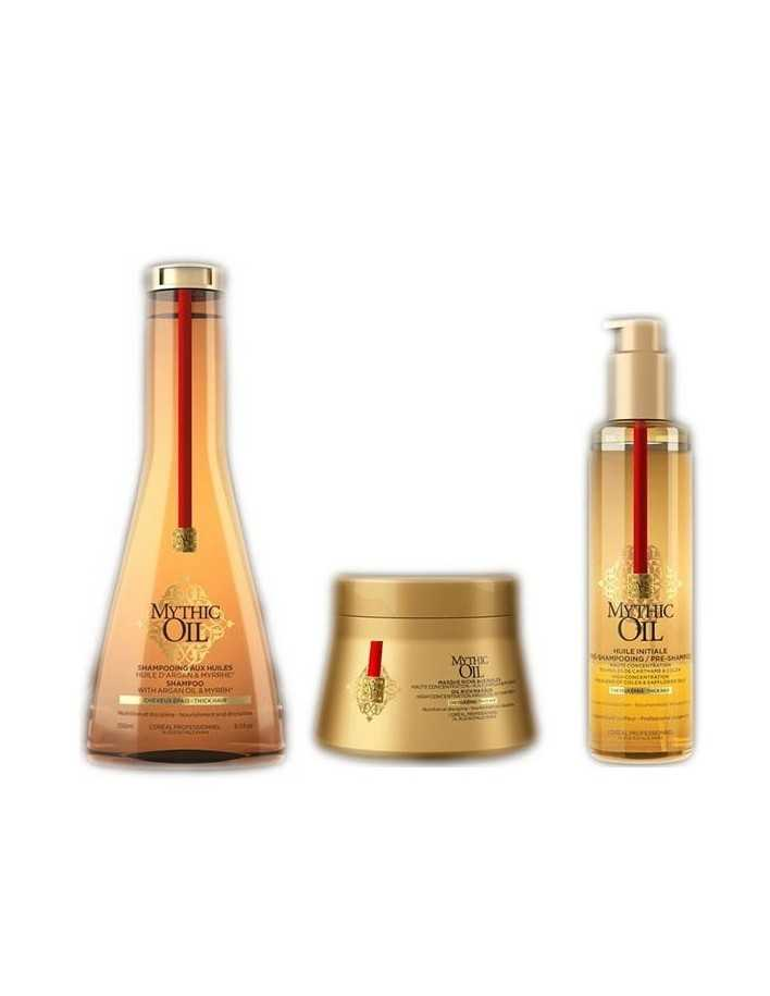 L'Oreal Professionnel Mythic Oil Shampoo & Pre-Shampoo & Hair Mask Pack For Thick Hair