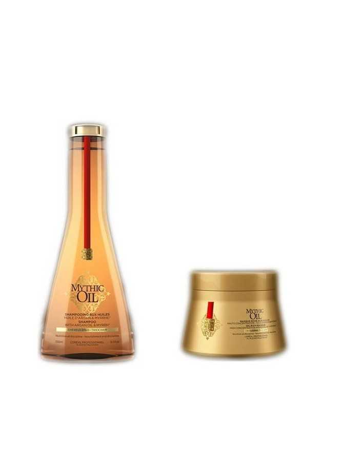 L'Oreal Professionnel Mythic Oil Shampoo & Hair Mask Pack For Thick Hair