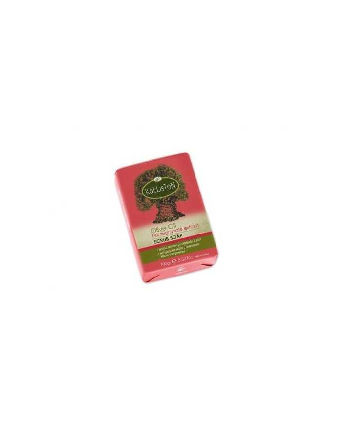 Kalliston Scrub Olive Soap & Pomegranate 100gr 4137 Kalliston Natural Care Soaps €1.70 €1.37