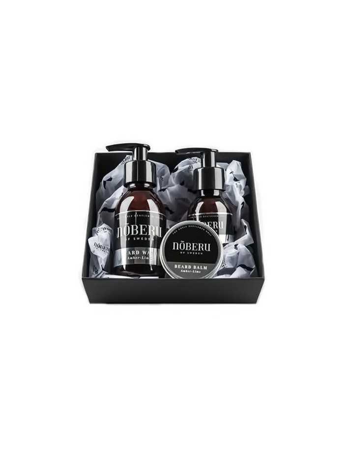 Noberu Gift Box Beard Wash 125ml & Oil 60ml & Balm 30ml Heavy Amber & Lime 4311 Noberu Προσφορές Για Γένια €52.90 -20%€42.66