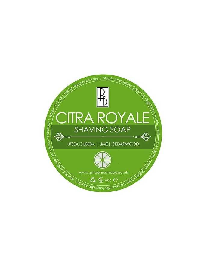 Phoenix and Beau Shaving Soap Citra Royale 115gr 4575 Phoenix and Beau Σαπούνια Ξυρίσματος €14.95 -10%€12.06