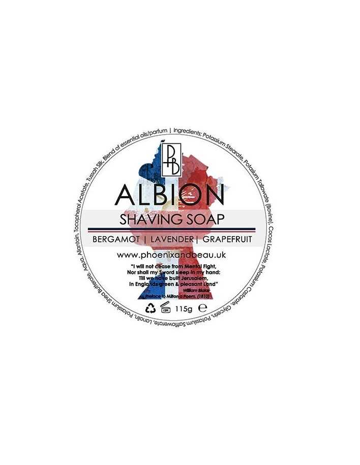 Phoenix and Beau Shaving Soap Albion 115gr 4607 Phoenix and Beau Σαπούνια Ξυρίσματος €14.95 -10%€12.06