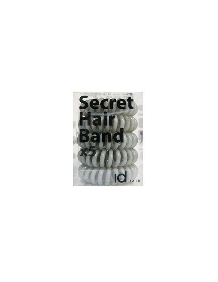 Id Hair Secret Hair Band x5 Γκρι 4699 Id Hair Κοκαλάκια €5.95 €4.80
