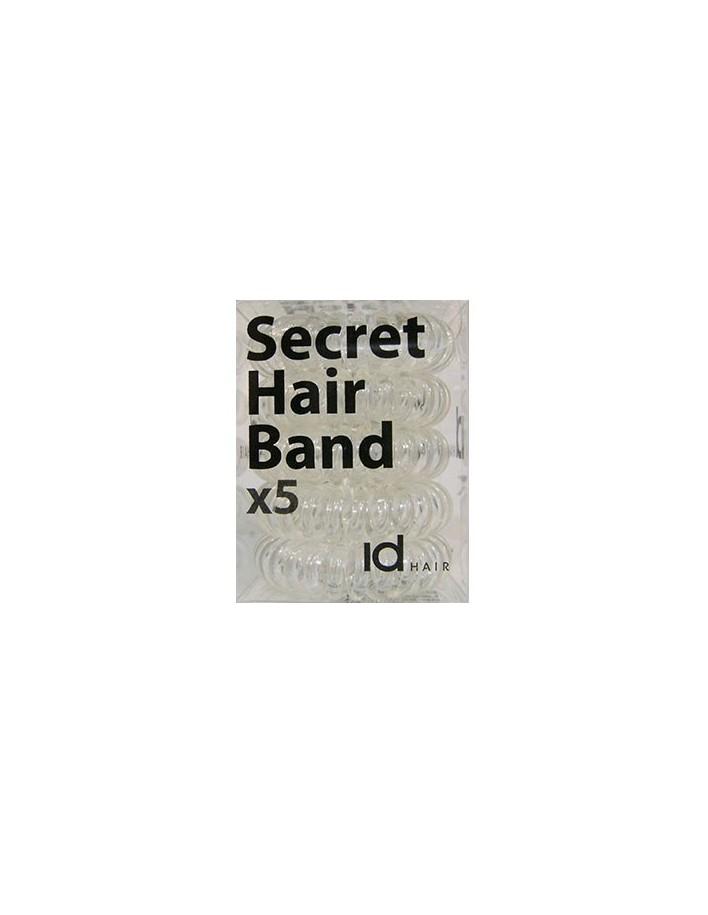 Id Hair Secret Hair Band x5 Διαφανές 4697 Id Hair Κοκαλάκια €5.95 €4.80