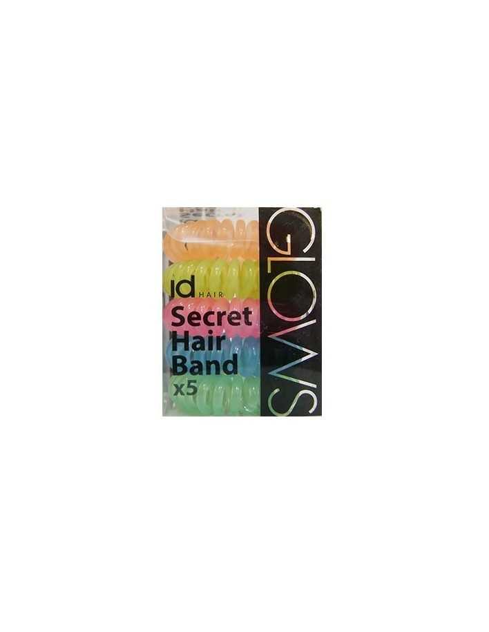 Id Hair Secret Hair Band x5 Glows 4702 Id Hair Κοκαλάκια €5.95 €4.80